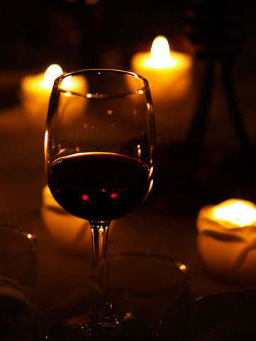 ワイングラス写真